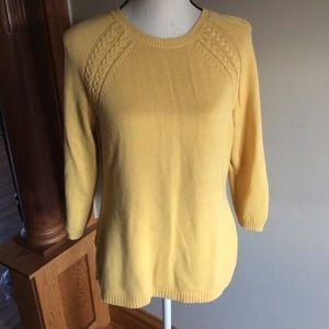 Talbots 3/4 length sweater
